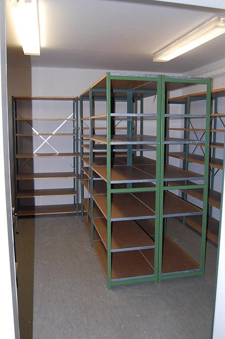 Einer der beiden Lagerräume